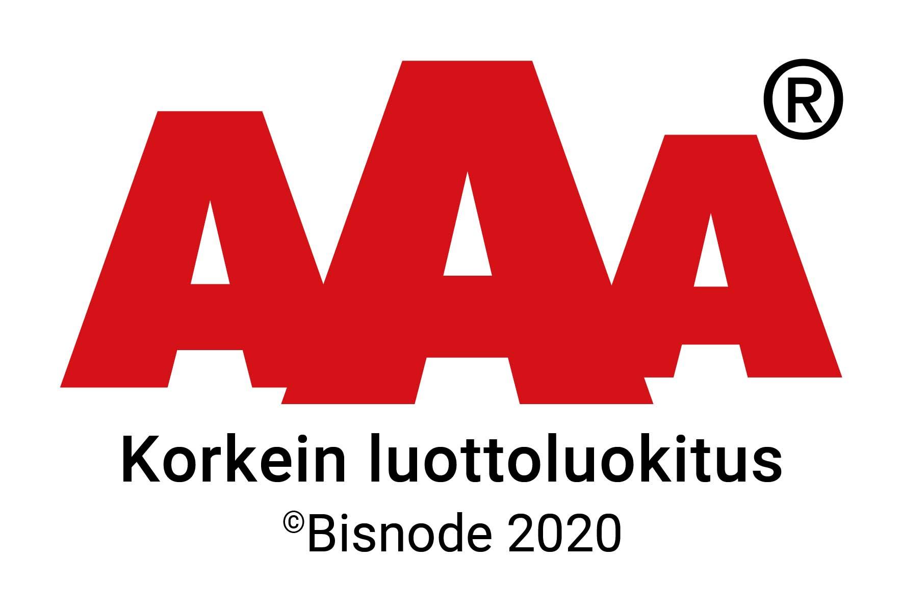 AAA Korkein luottoluokitus 2020 - Averfin Oy